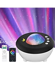 YunLone Aurora Projector Star Projector Galaxy Projector Lights for Bedroom Smart WIFI Night Light Lamp with Music speaker, Sound machine, App Control, Remote Control, Room Decor Gift for Kids and Adult, Compatible with Alexa, 30 color modes