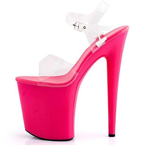 LLP Femme Sandales Talons Hauts Plate-Forme Imperméable Talons Hauts Chaussures Modèle Fond épais Chaussures en Cristal Chaussures Sandales de Travail Sandales de Banquet B MrntRHcyv
