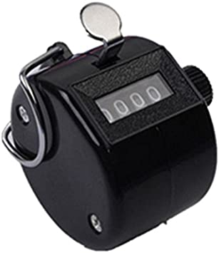 Hand Tally Counter Mechanical Lap Tracker Manual Clicker Metal Finger Ring Hoop