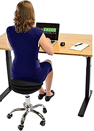 Delightful Uncaged Ergonomics WSA B WOBBLE STOOL AIR Rolling Adjustable Height Active  Sitting Balance Ball Office