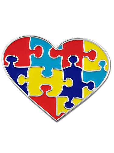 PinMart Autism Awareness Heart Shaped Puzzle 1
