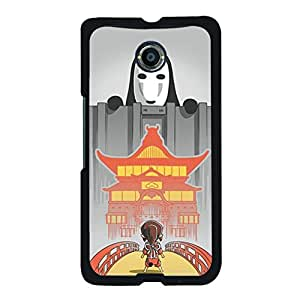 Prevdent Gorgeous Spirited Away Pattern Phone Case,Google Nexus 6 Back Cover Case,Hard Plastic Cover Classical Animation Pattern