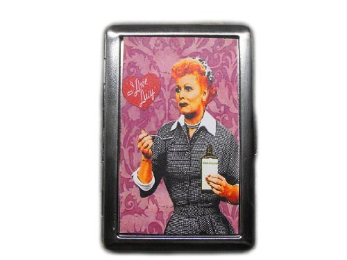 Love Cigarette Case - I Love Lucy Decorated ID Cigarette Case Wallet - CP238