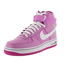 Nike Kids Air Force 1 High (GS) Fchs Glw/White/Fchs Flsh/Crt P Basketball Shoe 7 Kids US