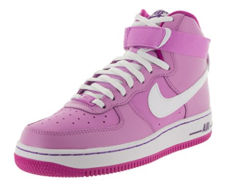 Nike Youth Air Force 1 Scarpe Da Basket Da Uomo Alto Fchs Glw / Bianco / Fchs Flsh / Crt P