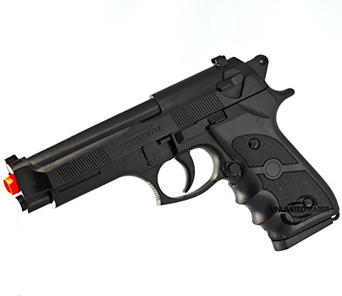 [UKARMS M9 92 FS BERETTA FULL SIZE SPRING AIRSOFT PISTOL HAND GUN w/ 6mm BB BBs] (Beretta Spring Pistols)