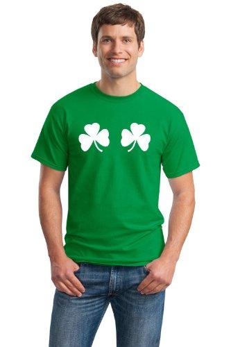 NICE SHAMROCKS Unisex T-shirt / St Patrick's Day Irish Pride Boob Tee