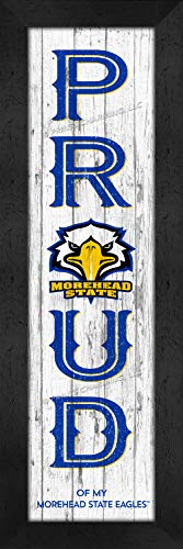 ege Morehead State Eagles COL Proud Color N22 Logo Framed Posters 6x22 Inches ()