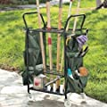 Rolling Garden Tool Cart with Twenty (20) Nylon Pockets-Steel Construction