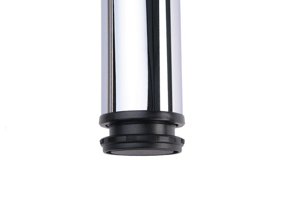 4er Set Stützfüße 705 mm höhenverstellbar EDELSTAHLoptik Möbelfuß Tischbein