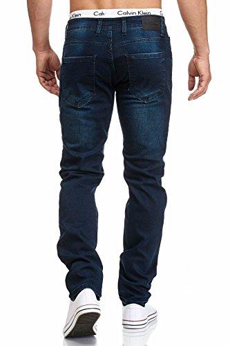 MADDU Herren Jeans Hose Freizeit Clubwear Regular-Fit Jeans Blau 1013
