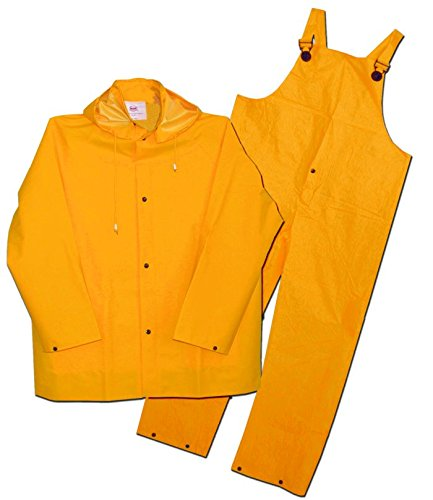 3 Piece Lined Rainsuit (Boss 3PR0300YM 3 Piece Lined 35mm PVC Rainsuit Yellow Medium)