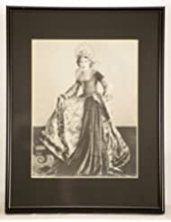 Mary Pickford Signed Vintage 8x10 B&W Photo - Custom Black Metal Framed & Matted - Signed in Fountain Pen - Measures 10x13 Inches - Ben Hur / Pollyanna - Very Rare - Collectible