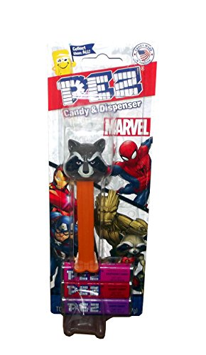 Marvel Guardians of the Galaxy Pez Dispenser Blister Pack (Rocket Raccoon)