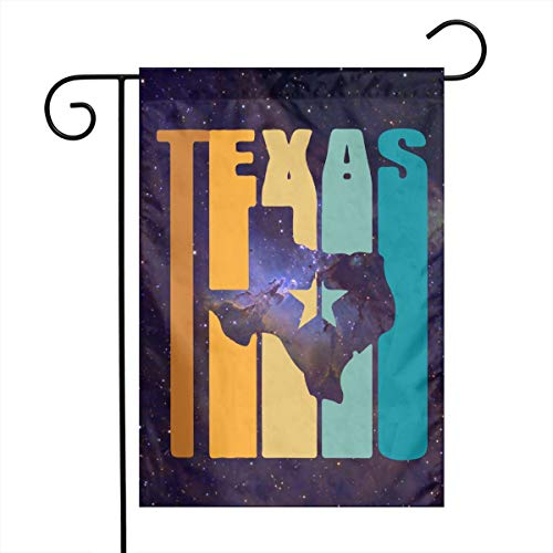 FADFAF3124 Retro 70S Vintage Texas Double Sided 12 X 18 Inch Backyard Flag Seasonal Spring Summer Outdoor Funny Decorative Flags -