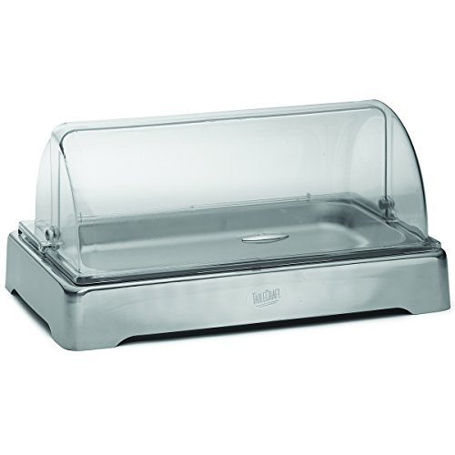TableCraft Products CW40169 Full SZ Stainless Cold Server W Polycarbonate Lid