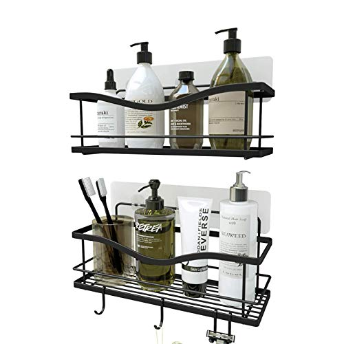 KINCMAX Shower Caddy Bathroom Shelf, No Drilling Traceless Adhesive Bathroom Storage Organizer, SUS304 Rustproof Food…