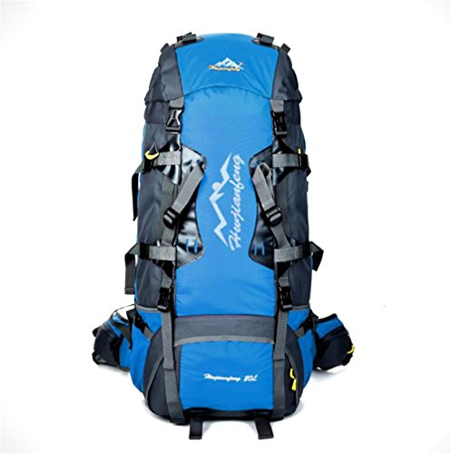 Wmshpeds Bolso de múltiples funciones del alpinismo del litio de 80L bolso de hombro masculino del recorrido de los deportes al aire libre de nylon C