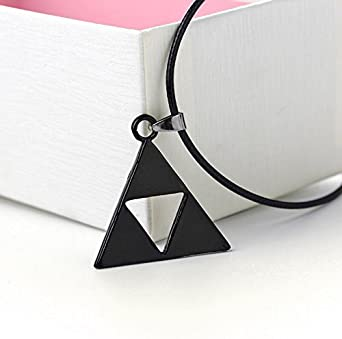 Antique Gold Plated Metal Leather Chain Zelda Pendant Necklace
