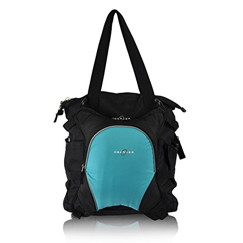 Turquoise And Black Diaper Bag - 7