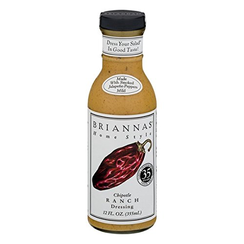 Chipotle Ranch - Brianna's Home Style Chipotle Ranch Dressing, 12 Ounce (Pack of 6)