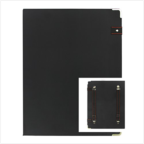 Waterproof Drawing Writing Sketching Board Pad--Plastic Paint Clipboard Backpack Style Pastelboard with Shoulder Straps,Watercolor Paint Board with Pocket,Can Hold 2 Pack A4 Blank Sketch (Waterproof Black Magic Ink)