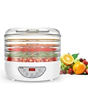 Essiccatore Disidratatore Alimenti di MLITER 240w Professionale BPA FREE 5 Scomparti Temperatura Regorabile 35-70° Timer Programmabile per Essicare Frutta Verdure Pomodori