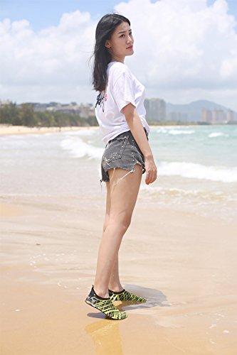 Shoes Pool Socks Beach White Exercise Swim Water Men Women Stripes Barefoot 41wdxqHUtF