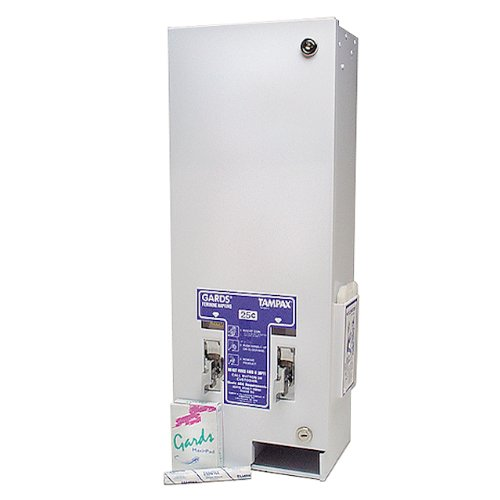 Hospeco 1-25 Dual Slot Sanitary Napkin/Tampon Dispenser with 25 cent Coin Operated ()