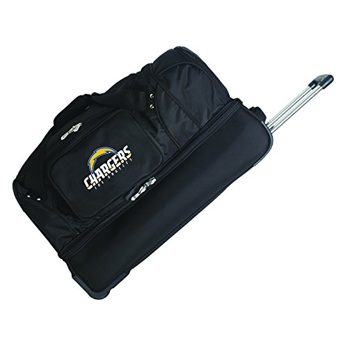 Denco NFL Los Angeles Chargers Rolling Drop-Bottom Duffel by Denco