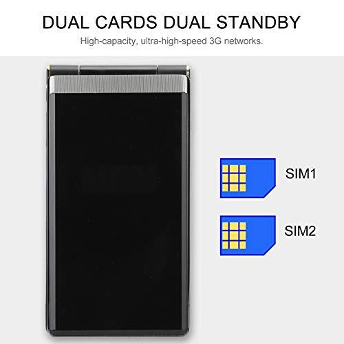 Flip Mobile Phone 3G, Big Button Cell Phone, Dual Sim 2.8in Handwriting Touching Screen, 5900 mhA Battery, Retro Flip Phone for Seniors(Tarnish)