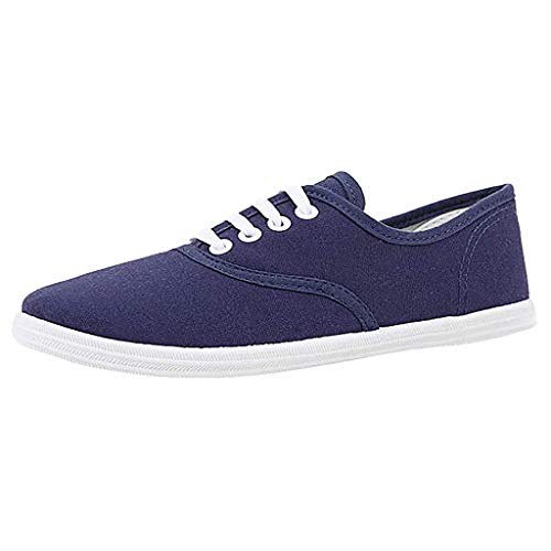 Canvas Flat Sneakers for Women,ONLYTOP Women Summer Sneakers Low Top Lace Up Lightweight Casual Slip on Shoes Dark Blue - Paris Blues Jeans Pants