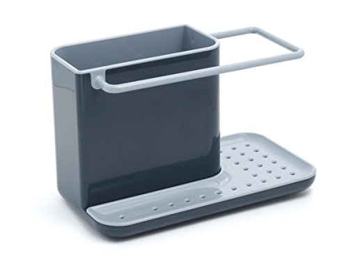 Joseph Joseph 85022 Sink Caddy Kitchen Sink Organizer Sponge Holder Dishwasher-Safe, Regular, Gray