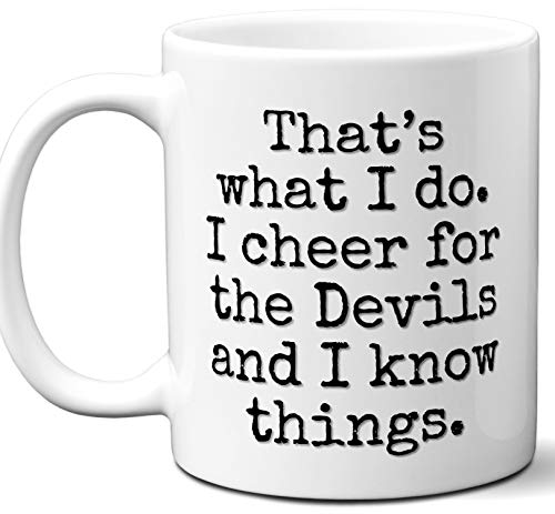 Devils Gifts For Men Women. Cool Unique Funny Gift Idea Devils Coffee Mug For Fans Sports Lovers. Football Hockey Birthday Father's Day Christmas.