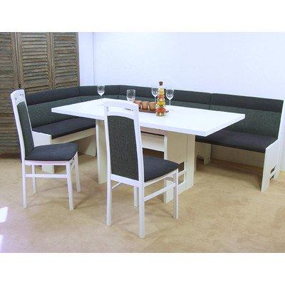 Panca angolare imbottita + tavolo, modello Stockholm II, colore ...