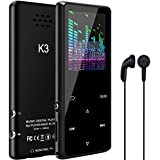 MP3 Player with Bluetooth Qoosea 16GB Hi-Fi Lossless Stereo Sound Built-in Speaker Metal Touch Buttons K3 Digital Music Player E-Book/FM Radio/Voice Recorder/Video