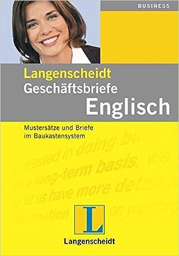 Langenscheidt Geschäftsbriefe Englisch Mustersätze Und Briefe Im