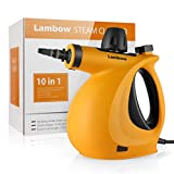ShamBo Handheld Pressurized 9 in 1 Steam Cleaner, with 9-Piece Accessory Set for Bathroom, Kitchen, Surfaces, Carpet, Car Seats and Floor, Steamer