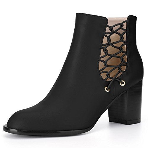 K Boots Allegra Black Ankle Cutout Women's AdxHY
