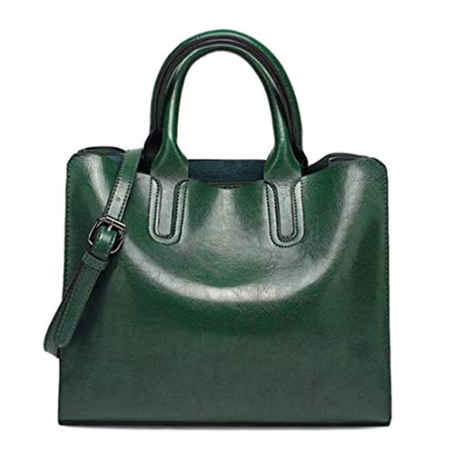 Oil for Green Bag 32x12x25cm Handbags Women Leather Tote Pink Shoulder Trunk ZUqZOw1x