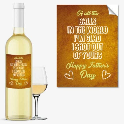 #1039 Fathers Day Wine Bottle Label Occasion Gift Funny Cool Best Idea for DAD