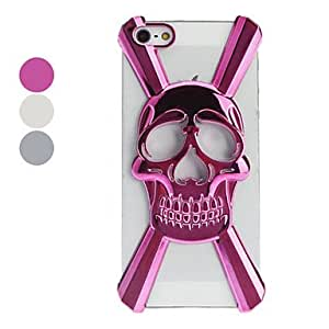 3D Hollow-out Skull Designed Hard Case for iPhone 5/5S (Optional Colors) --- COLOR:Gray