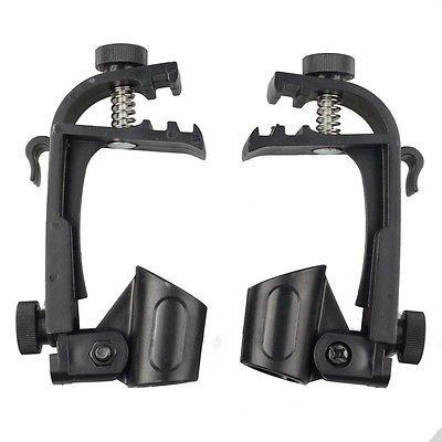 FidgetGear New 2pcs Microphone Holder Drum Hoop Rim Mount Shock Mount Mic holder Clip