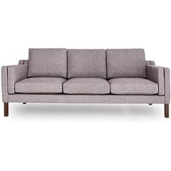 Kardiel MONROE3-DECOGREY Monroe Mid-Century Modern 3 Seat Sofa, 29.92