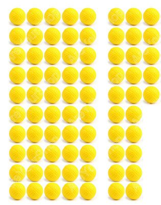 75 Ultra Foam Balls Compatible For Nerf Rival Apollo Zeus Bullet Balls, Refill Ammo for Nerf Rival (75) Pieces by Rigby wares