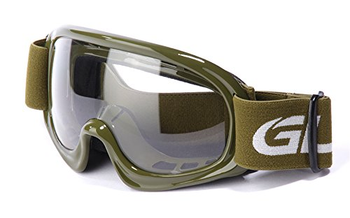 GLX Youth Kids Sports ATV Airsoft Paintball Motocross Dirt Bike Motorcycle Off Road Racing Goggles Anti-Fog (4 Colors) by GLX