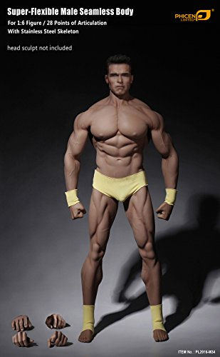 Phicen 1/6 Scale Super Flexible Male Muscular Seamless Body PL2016-M34 ()