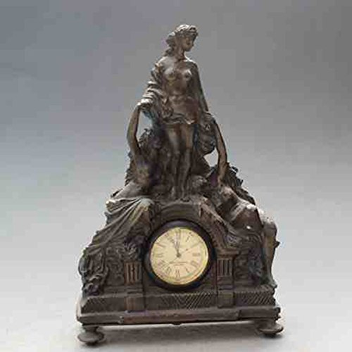 European Beauty modelling copper watch Mechanics Desk clock Arts and Crafts by Sunmir