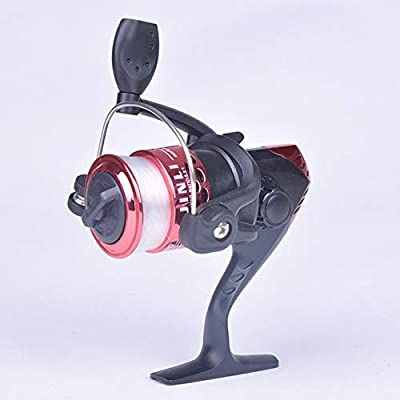 CUSHY Electroplate Spinning Fishing Reel Spin Fishing Coil Wheel for Sea Fishing 3 Ball Bearing 2 Control Systems Fishing Reels #18: Red, 3