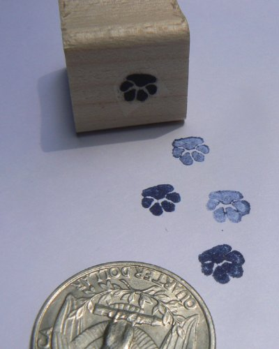 Miniature Paw Print rubber stamp P24
